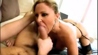 Blonde busty milf Julia Ann hardcore anal sex